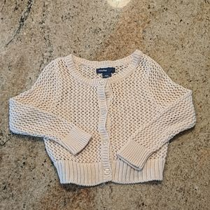 GAP Cream Crochet Cardigan 12-18 Months